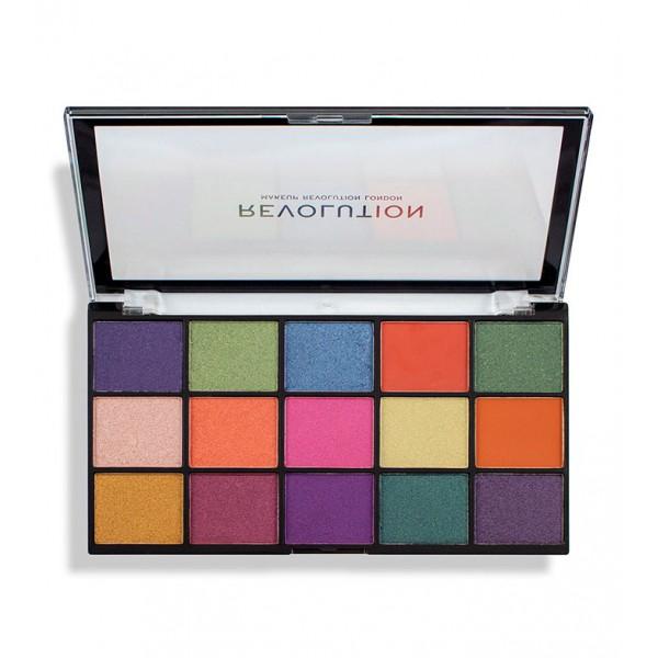 Revolution палитра сенки за очи Reloaded Passion For Colour - 15 цвята