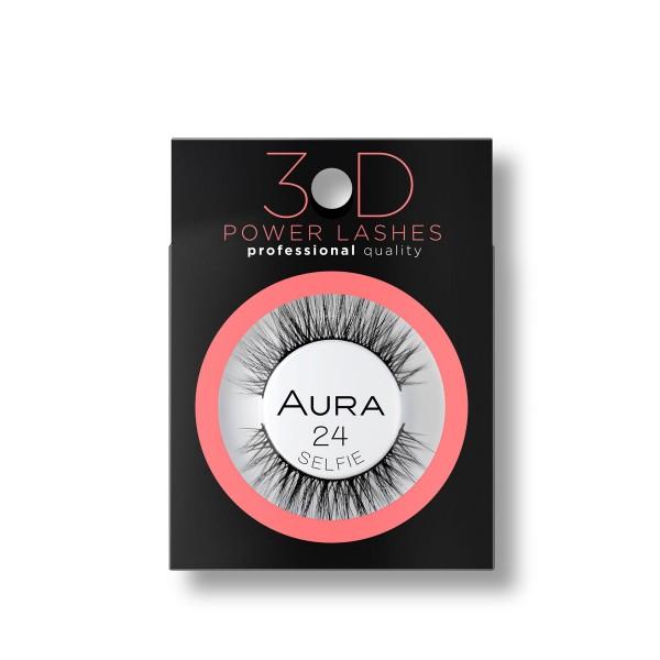 Aura 3D изкуствени ръчно направени мигли 24 Selfie