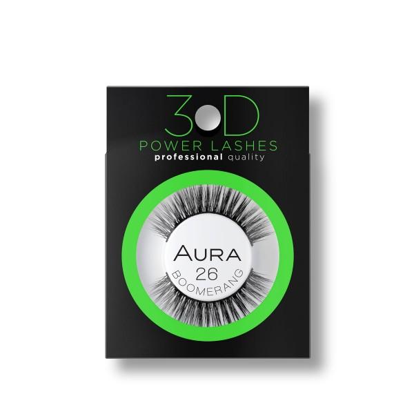 Aura 3D изкуствени ръчно направени мигли 26 Boomerang