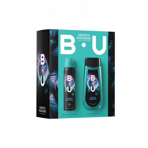 Комплект от 2 части - душ гел, дезодорант - B.U Hidden Paradice