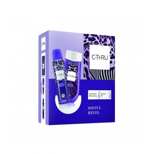 Комплект от 2 части - душ гел, дезодорант - C-Thru Joyful Revel