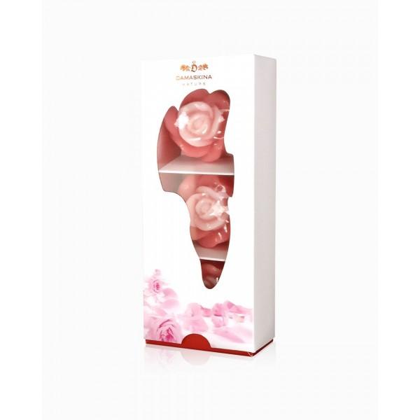 Damaskina комплект от три глицеринови сапуна с розово абсолю -180 гр