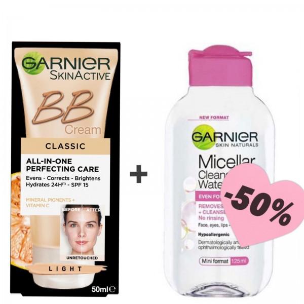 Оферта BB крем Light и мицеларна вода Garnier