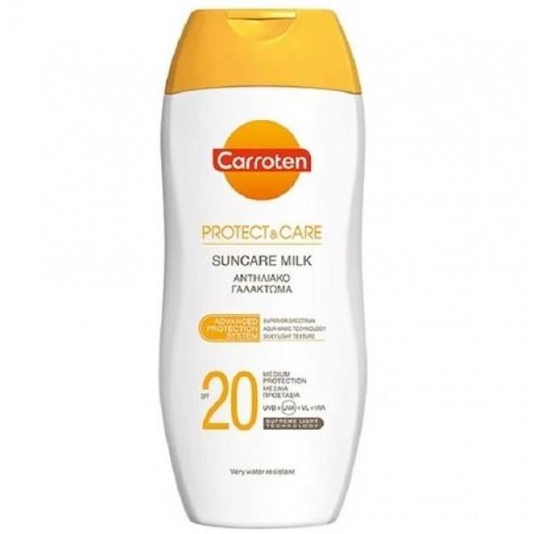Carroten слънцезащитно мляко Protect&Care SPF20 200мл