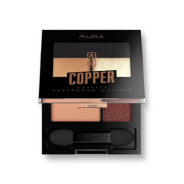 Aura палитра сенки за очи Copper - 4 цвята