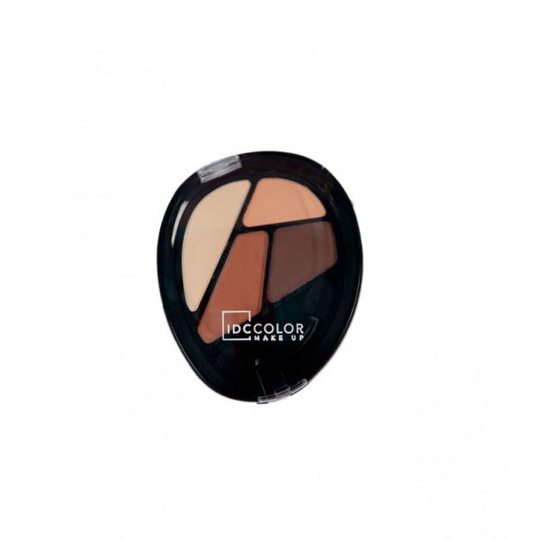 IDC  Color 4 Matte Caramel - палитра сенки за очи 4 цвята