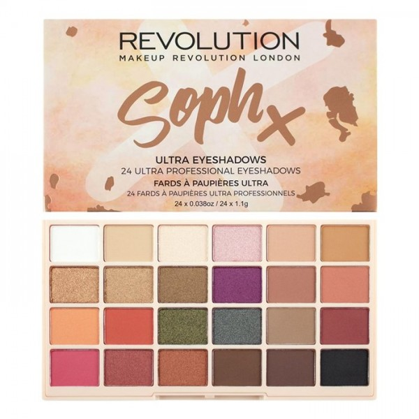 Revolution палитра сенки за очи Soph x - 24 цвята
