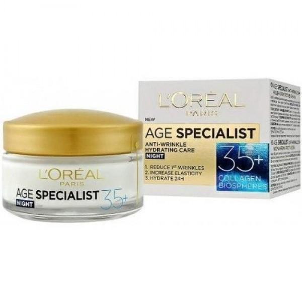 L`Oreal Age Specialist 35+ Хидратиращ нощен крем за лице x50 мл