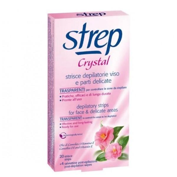 Депилиращи ленти за лице Cristal Strep - 20бр.
